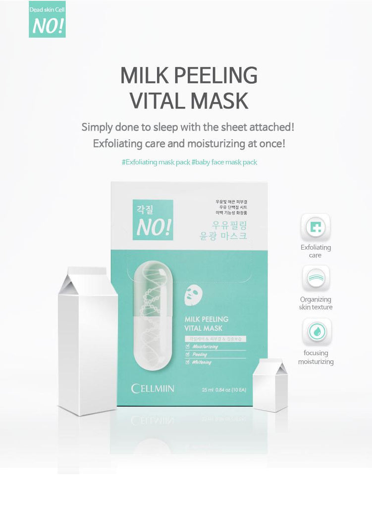 Cellmiin Milk Peeling Vital Mask (1 Sheet)