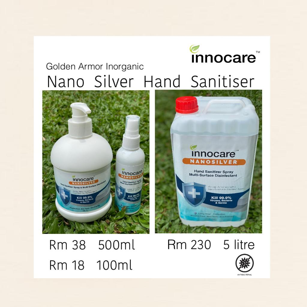 Innocare Nanosilver Hand Sanitizer Spray | Multi-surface disinfectant