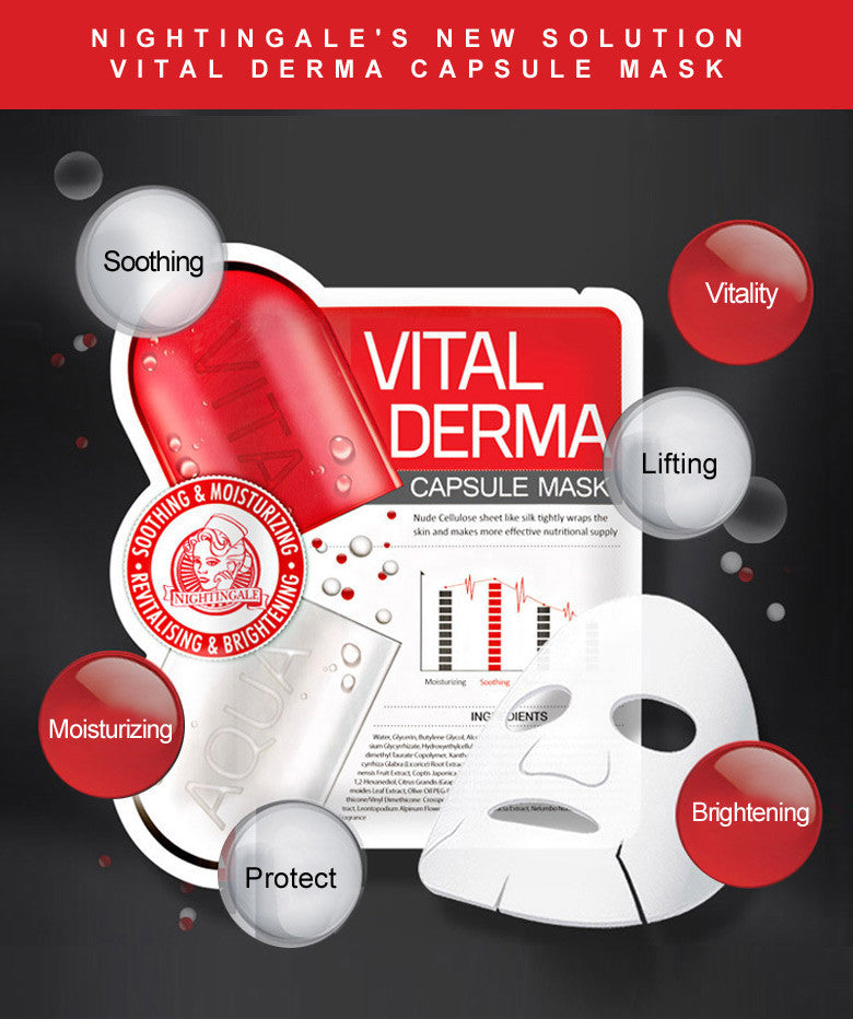 Nightingale Vital Derma Capsule Mask (10 sheet / Box)