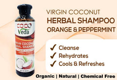 Coco Veda Virgin Coconut Herbal Shampoo - Peppermint & Orange