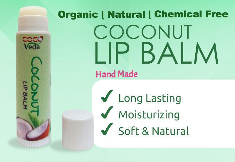 Coco Veda Coconut Lip Balm - Plain