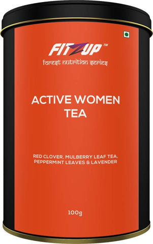 FitZup Active Woman Tea Peppermint Assorted Herbal Tea (100 g Drum)