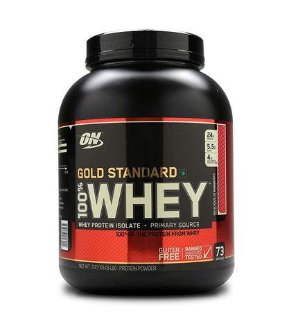 Optimum Nutrition (ON) 100% Whey Gold Standard 5 lb , DELICIOUS STRAWBERRY
