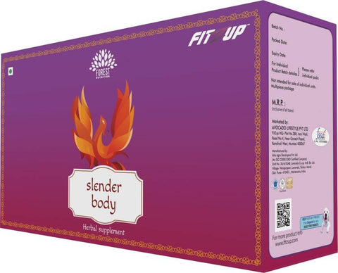 FitZup Slender Body Kit. Herbal. Fat Loss/Weight Loss Supplement. 270 Tablets/Capsules (270 No)