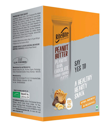 RiteBite Max Protein Peanut Butter - 480g (Pack of 12)