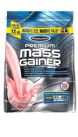 MuscleTech PREMIUM MASS GAINER STRAWBERRY 12LBS