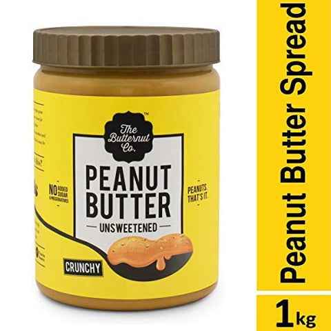 The Butternut Co. Peanut Butter Unsweetened Crunchy Jar, 1 kg