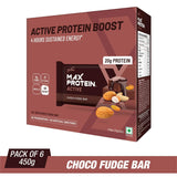 RiteBite Max Protein Active Choco Fudge Bars - 450g (Pack of 6)