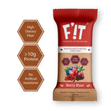 FiT Complete Nutrition and Whey Protein Bar- Berry Blast (Gojiberry, Blueberry, Cranberry, Raisins, Chia Seeds and Oats) - 210 gm, 35g x 6 (Pack of 6)