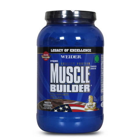 Weider Dynamic Muscle Builder Protein Supplement (1500gm/3.3LBs) (Smooth Chocolate)