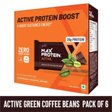 RiteBite Max Protein Active Green Coffee Beans Bars - 420g (Pack of 6)