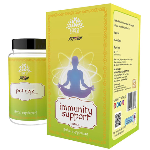 FitZup Immunity Support. Ayurvedic and Herbal Immunity Enhancer. 90 Capsules (90 No)