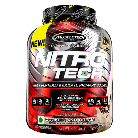 MuscleTech Performance Series NITRO TECH COOKIES AND CREAM 4LBS