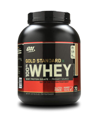 Optimum Nutrition (ON) 100% Whey Gold Standard 5 lb, Mocha Cappuccino
