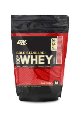 Optimum Nutrition 100% Whey Gold Standard 1 lb  , DELICIOUS STRAWBERRY