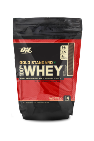 Optimum Nutrition (ON) 100% Whey Gold Standard 1 LB , DOUBLE RICH CHOCOLATE