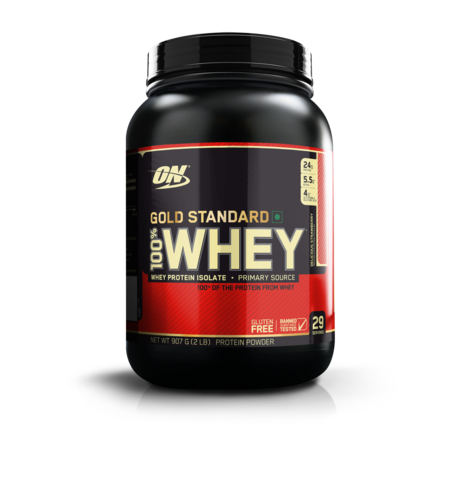Optimum Nutrition (ON) 100% Whey Gold Standard  2 lb , DELICIOUS STRAWBERRY