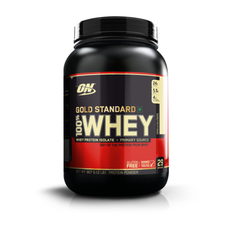 Optimum Nutrition (ON) 100% Whey Gold Standard 2 LB , VANILLA ICE CREAM