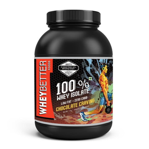 WHEYBETTER FOODS 100% Whey Isolate 1kg with FREE Protein Purity Test Kit ( Worth INR 300/-)