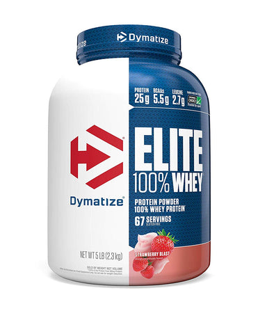 Dymatize Elite 100% Whey Protein, 5 lb Strawberry Blast