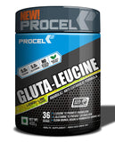 PROCEL® GLUTA-LEUCINE Glutamine+Leucine BCAA blend 36 servings 400g (Lemon-Lime)