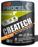 PROCEL® CREATECH Multi-form Creatine Supplement with Creatine HCL & Creatine Monohydrate Powder 56 servings 250g (Orange-Burst)