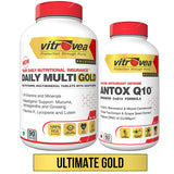 Vitrovea® DAILY-MULTI Gold 90ct + ANTOX-Q10 60ct Combo Pack for Total Protection