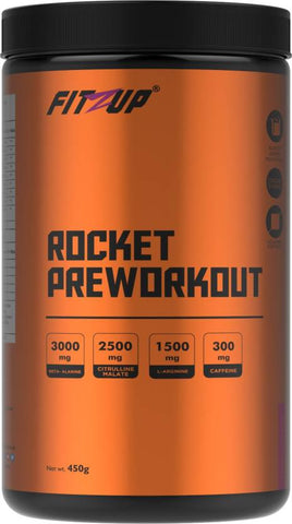 FitZup Rocket Pre-Workout Fruit Punch Flavour Creatine (450 g. Fruit Punch)