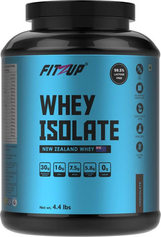 FitZup Whey Isolate Chocolate Flavour Whey Protein (4.4 pounds Chocolate)