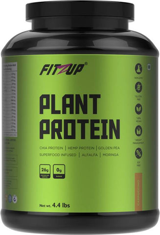 FitZup Plant Protein Cappuccino Plant-Based Protein (4.4 pounds Cappuccino)
