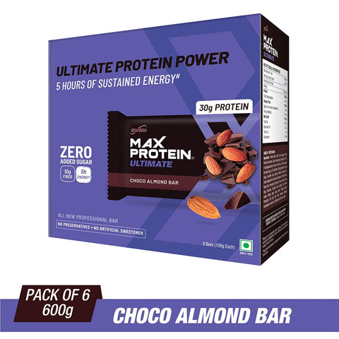 RiteBite Max Protein Ultimate Choco Almond Bars - 600g (Pack of 6)