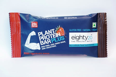 Eighty20 Plant Protein Bar(2 Packs of 20G)
