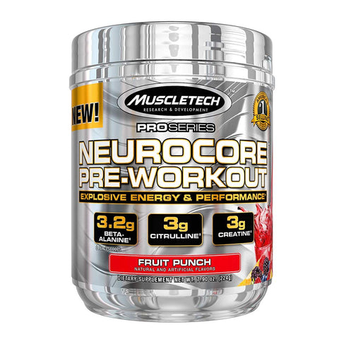 MuscleTech PRO Series NEUROCORE PRE-WORKOUT 50 SERVINGS FRUIT PUNCH