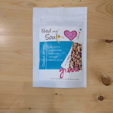Feed my Soul ~ Coconut Almond Granola – 250 Gms