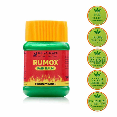 RUMOX: AYURVEDIC MUSCLE & JOINT PAIN RELIEF BALM – 50G PACK OF TWO