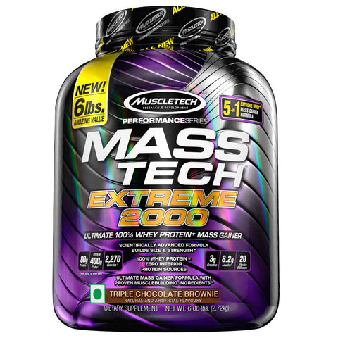 MuscleTech Performance Series MASS TECH EXTREME 2000 TRIPLE CHOCOLATE BROWNIE 6LBS