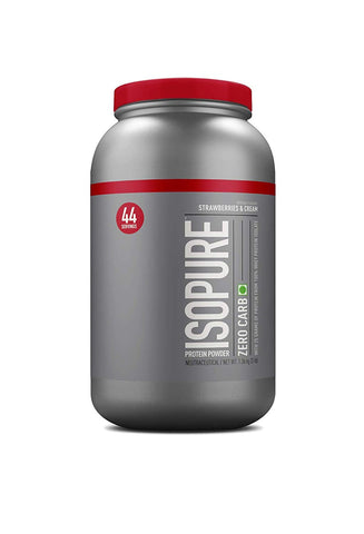 Isopure Zero Carb 100% Whey Protein Isolate Powder - 3 lbs, Strawberries & Cream