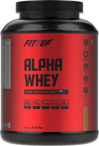 FitZup Alpha Whey Cappuccino Whey Protein (4.4 pounds Cappuccino)