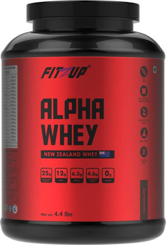 FitZup Alpha Whey Chocolate Whey Protein (4.4 pounds. Chocolate)