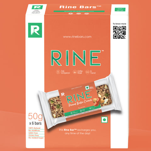 RINE BARS PEANUT BUTTER CRUNCH (Pack of 6)