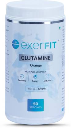 EXERFIT Glutamine Glutamine  (300 g, Orange)