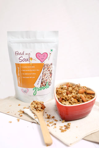 Feed my Soul ~ Honey Almond Granola – 250 Gms