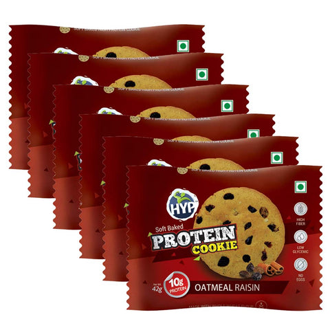 HYP Protein Cookies Oat Meal Raisin (Pack of 6)