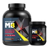 MuscleBlaze CreaPRO Creatine with Creapure Unflavoured 0.55 lb & High Protein Lean Mass Gainer Combo