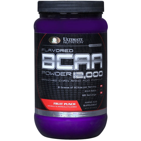 Ultimate Nutrition BCAA Powder, 1 lb Fruit Punch