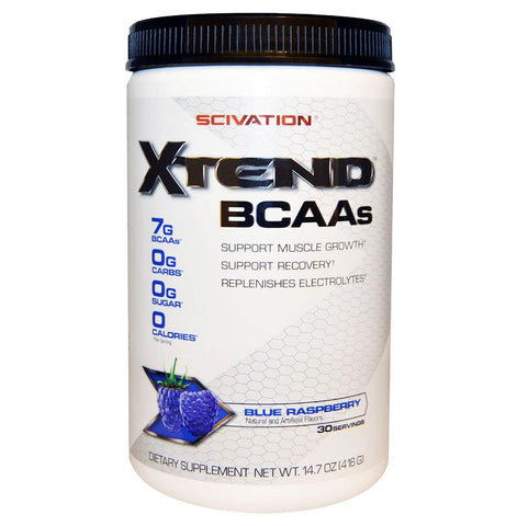 Scivation Xtend BCAA (Intra Workout Catalyst), 0.9 lb Raspberry Blue