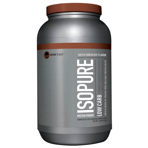 Isopure Zero Carb 100% Whey Protein Isolate Powder - 3 lbs, Dutch Chocolate