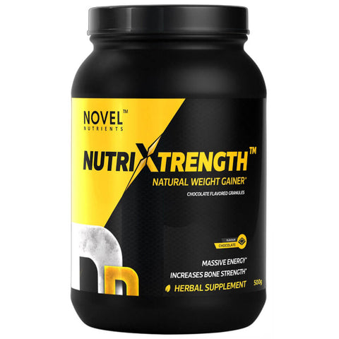 Novel Nutrients NutriXtrength Weight Gainer, 0.5 kg Chocolate Granules