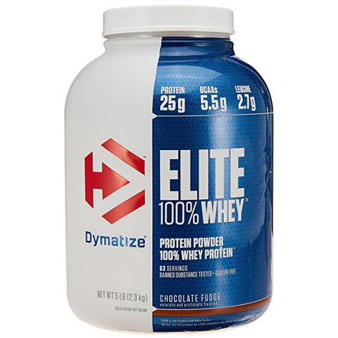 Dymatize Elite 100% Whey Protein, 5 lb Chocolate Fudge