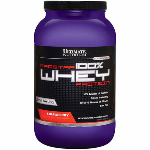 Ultimate Nutrition Prostar 100% Whey Protein, 2 lb Strawberry